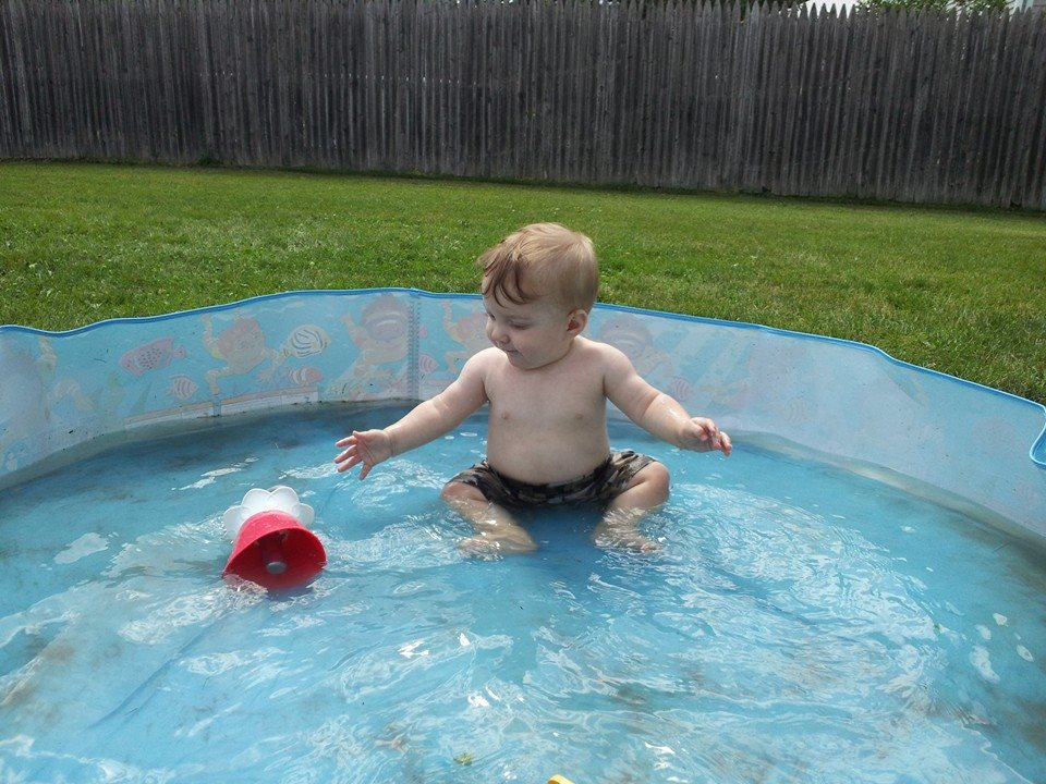 James Jr first time in pool